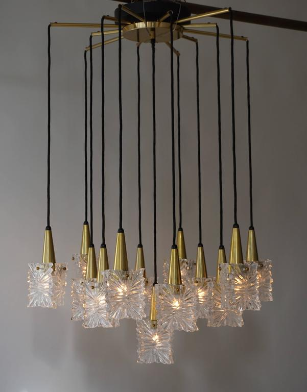 1970s RAAK Chandelier For Sale 1