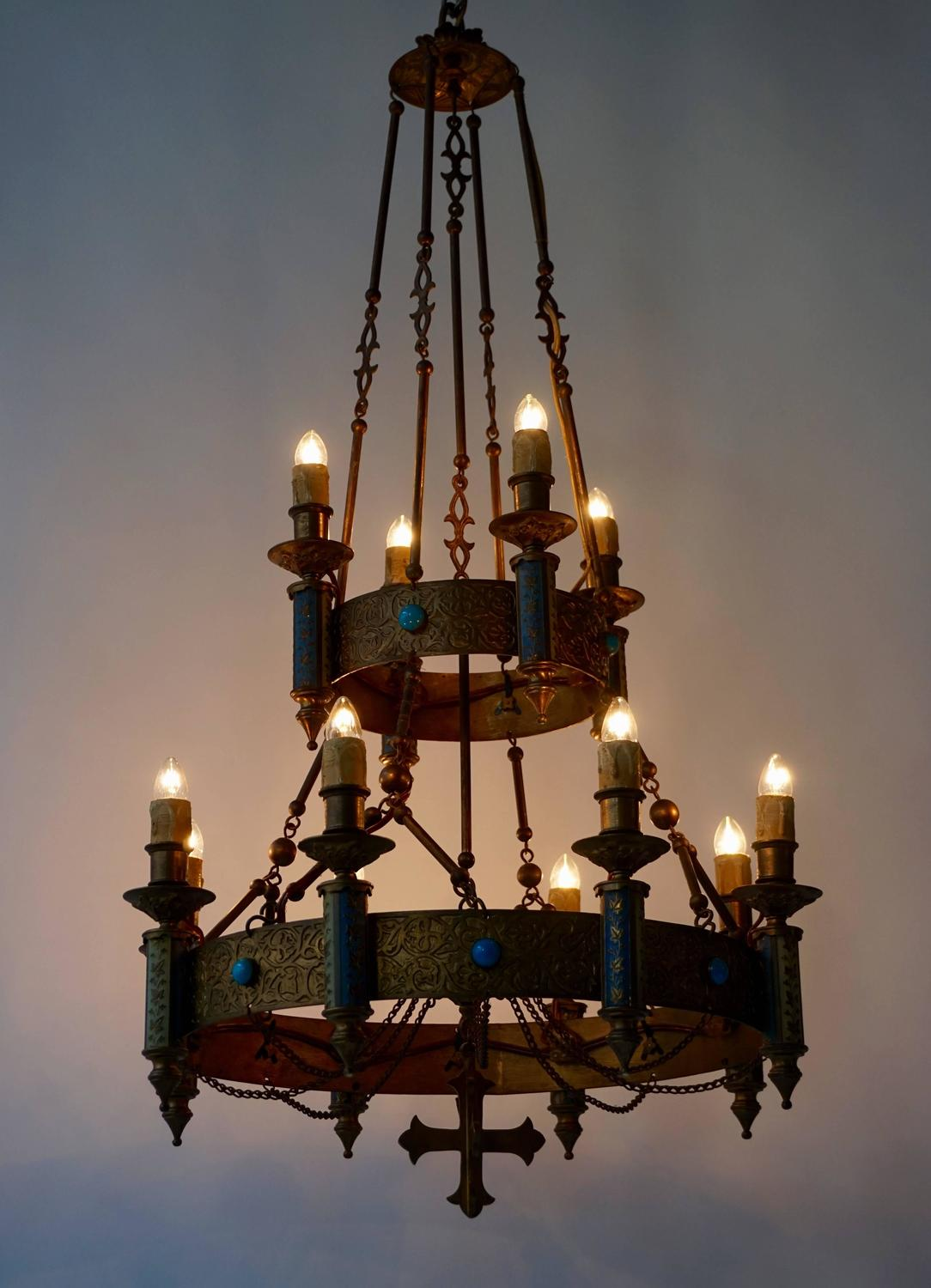 Rare Neo Gothic Chandelier For Sale at 1stdibs