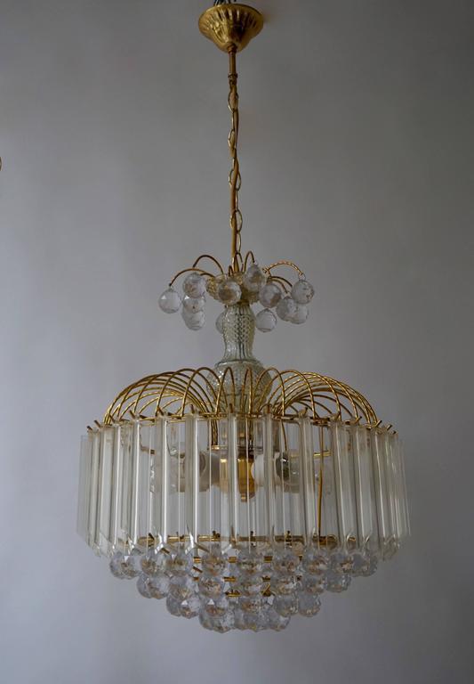 Two Italian chandeliers.  Diameter 40 cm. Height fixture 48 cm.