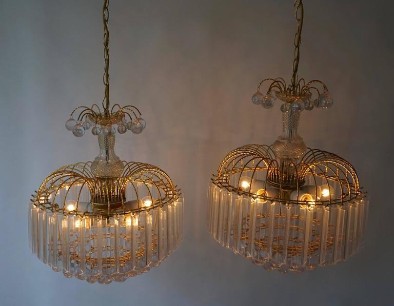 Two Elegant Italian Chandeliers For Sale 3