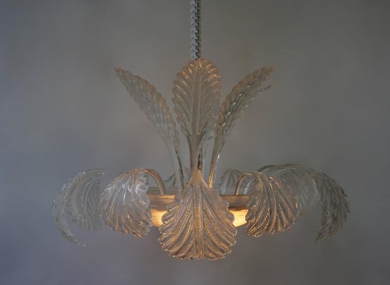 Venini Murano Glass Chandelier Italy In Good Condition For Sale In Antwerp, BE