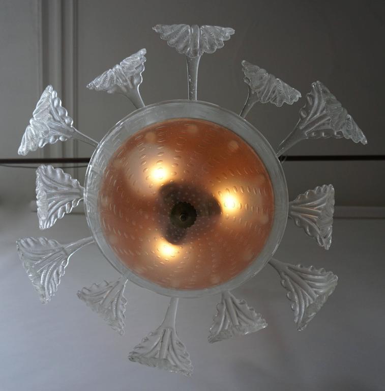 Italian Venini Murano Glass Chandelier Italy For Sale