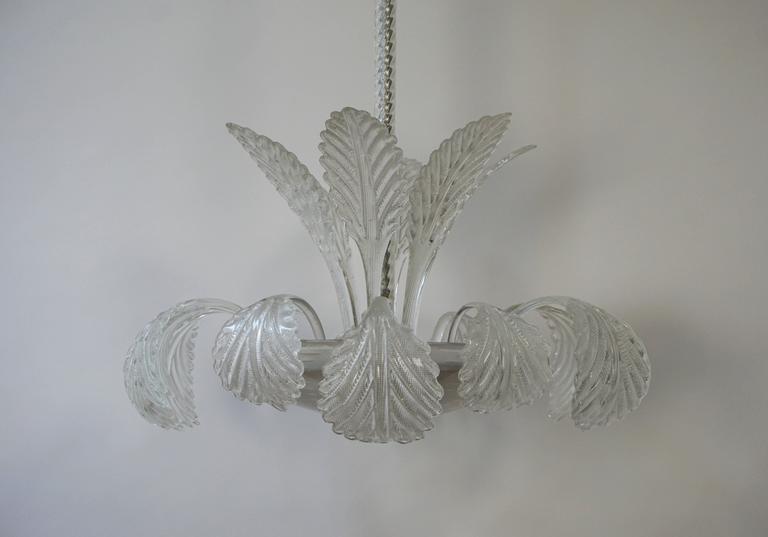 20th Century Venini Murano Glass Chandelier Italy For Sale