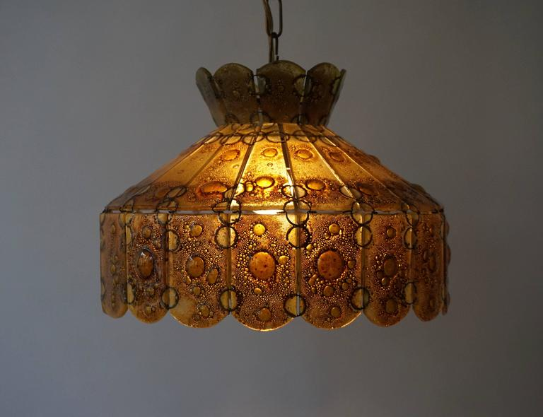 20th Century Italian Glass Pendant Light For Sale