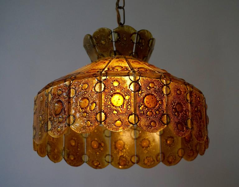 Italian Glass Pendant Light In Excellent Condition For Sale In Antwerp, BE