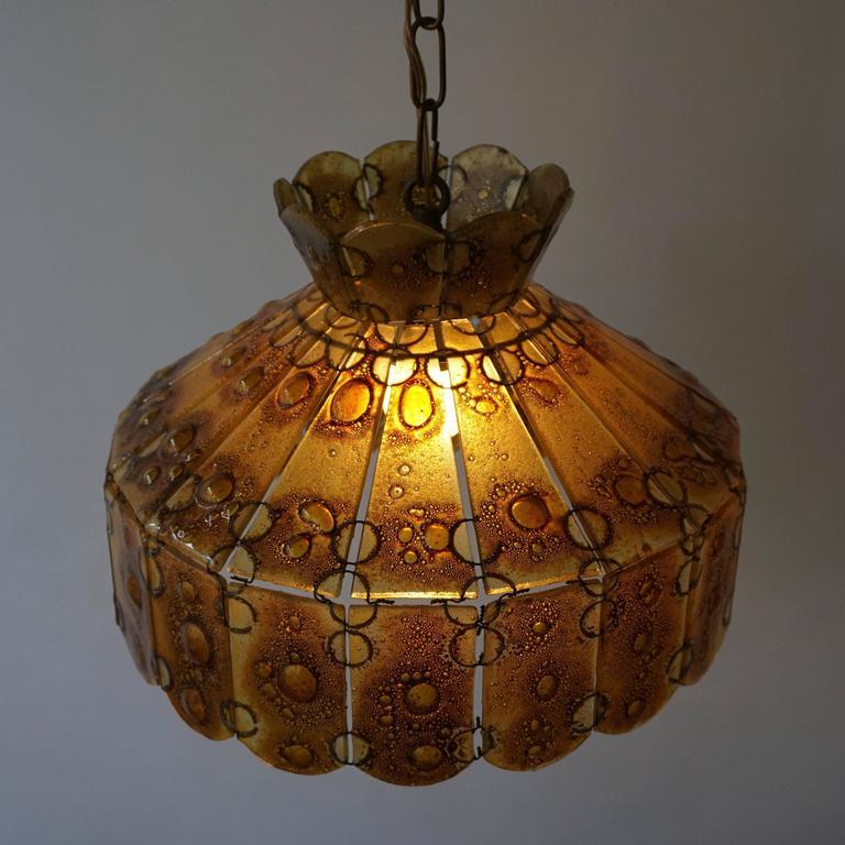 Italian Glass Pendant Light For Sale 1