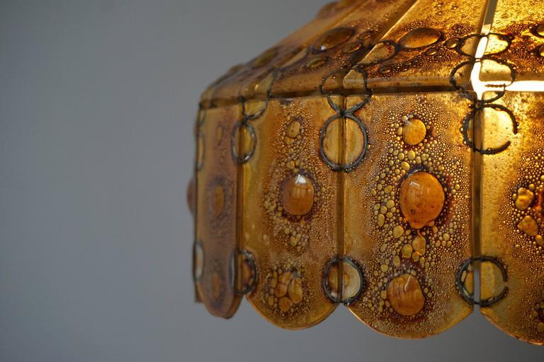 Italian Glass Pendant Light For Sale 4