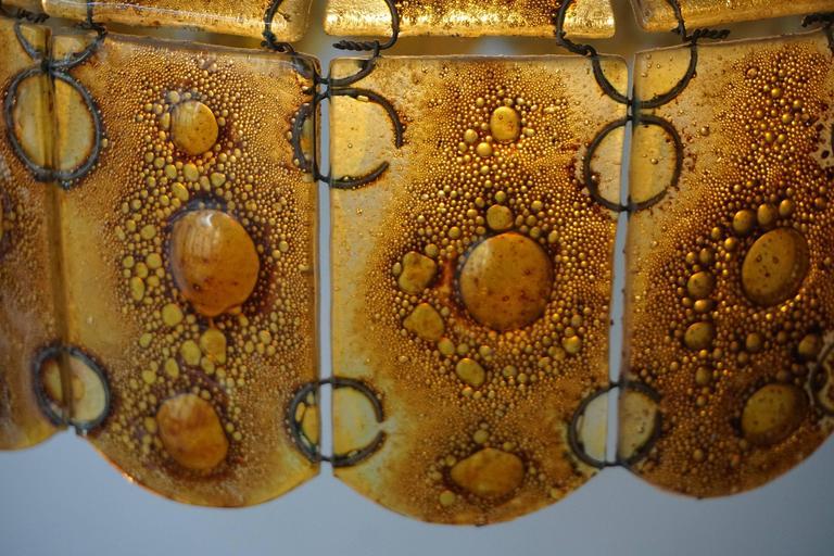 Italian Glass Pendant Light For Sale 3