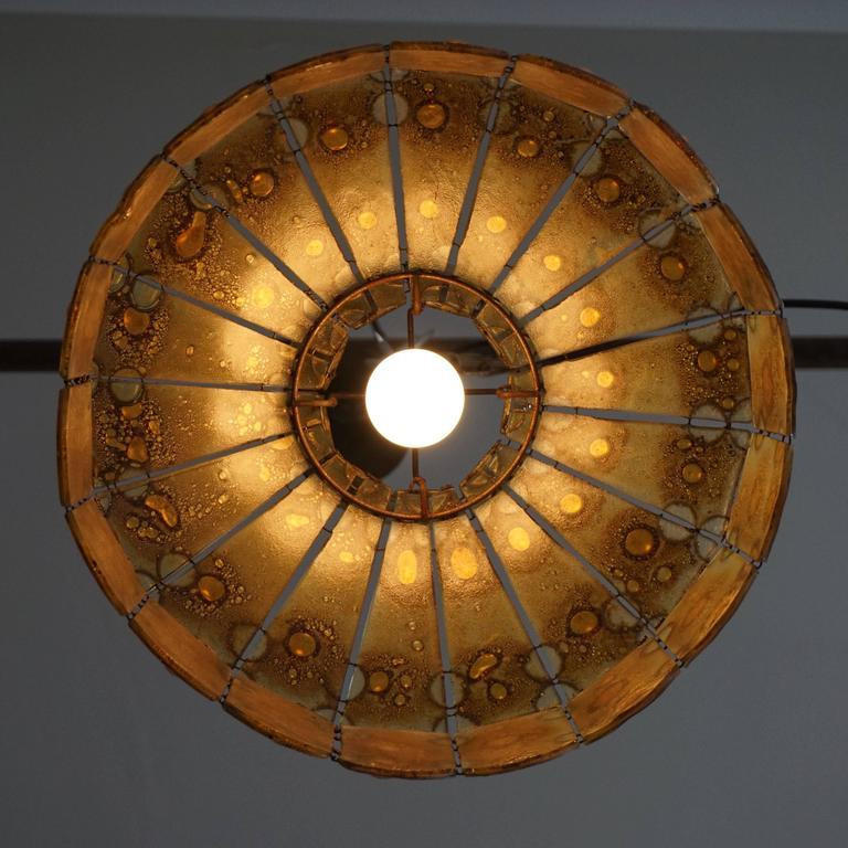 Italian Glass Pendant Light For Sale 2