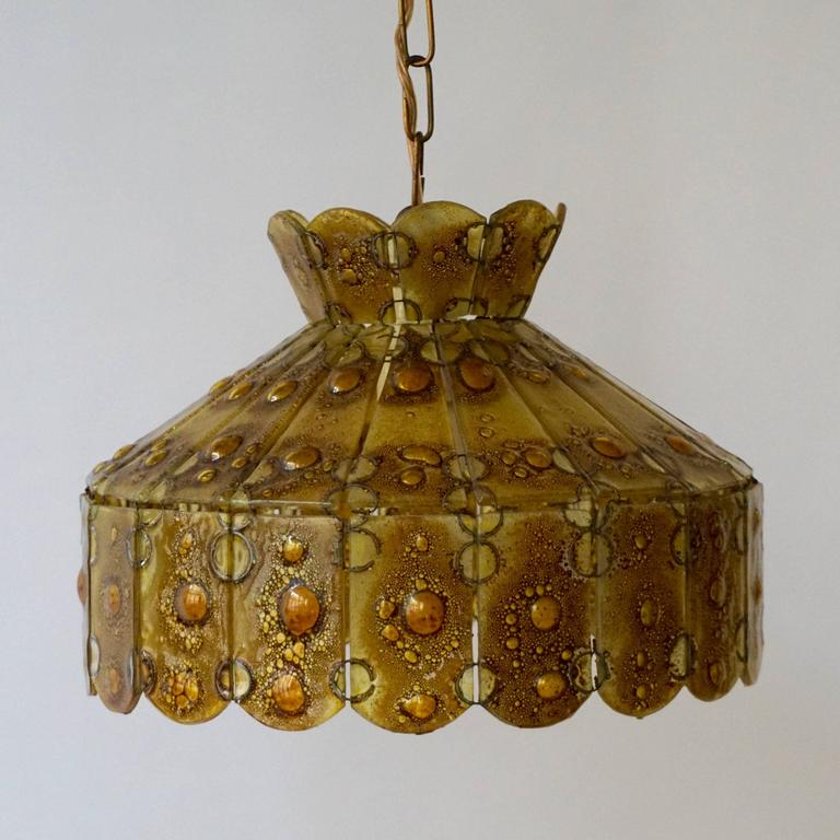 Italian glass pendant.