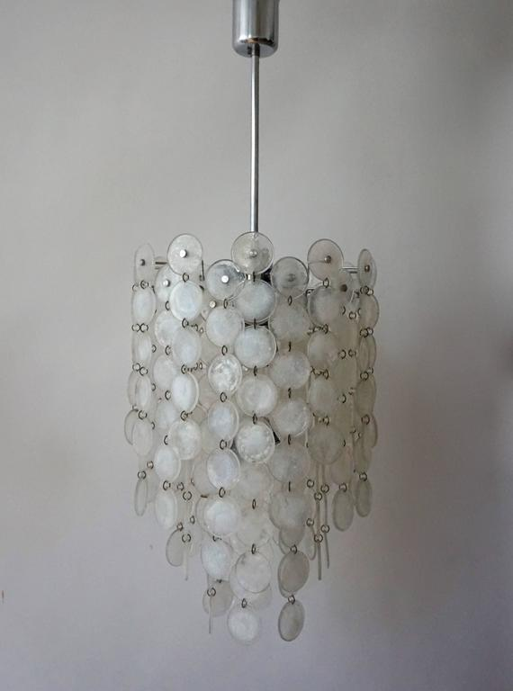 Mid-Century Modern Italian Murano Glass Chandelier For Sale