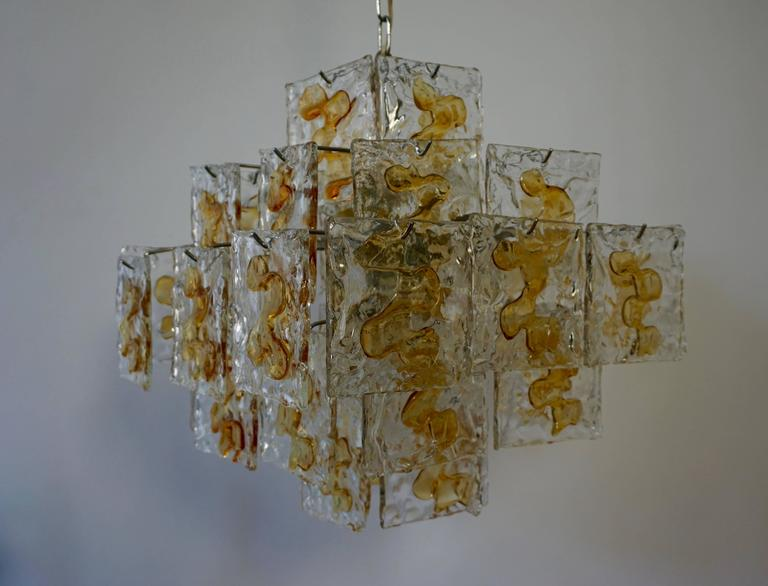 20th Century  Murano Glass Chandelier by Mazzega For Sale
