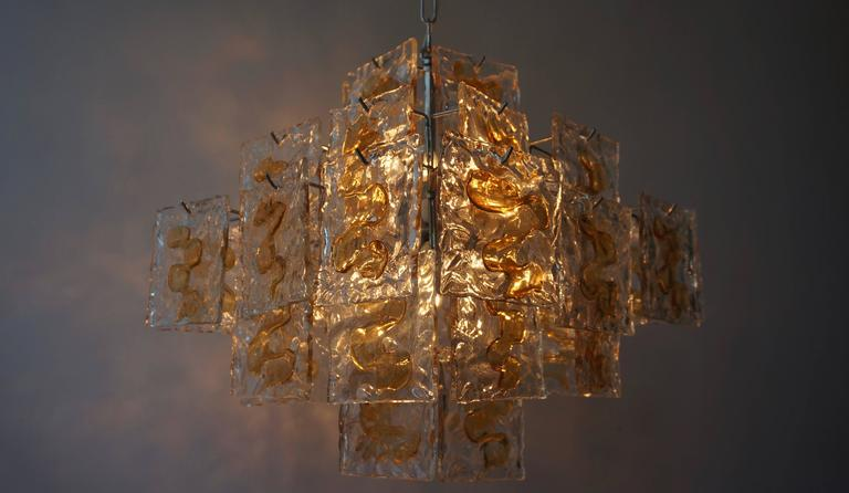 Murano Glass Chandelier by Mazzega In Excellent Condition For Sale In Antwerp, BE