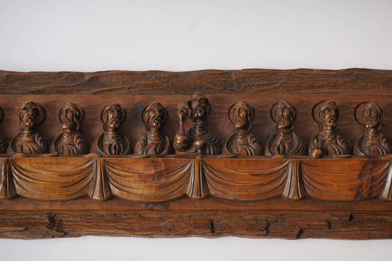 Wood Carving Representing the Last Supper For Sale 4