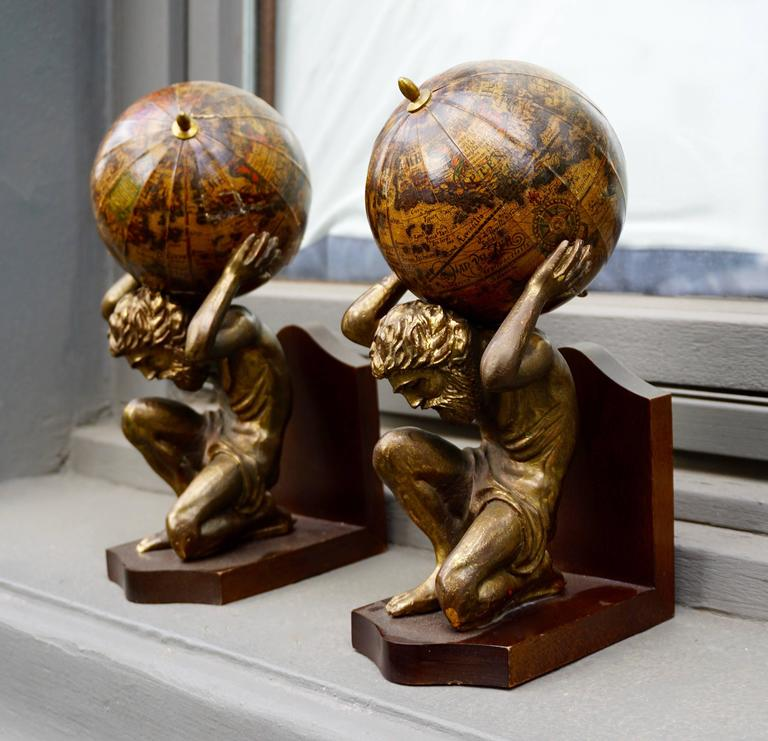 Mid-Century Modern Pair of Vintage Bookends For Sale