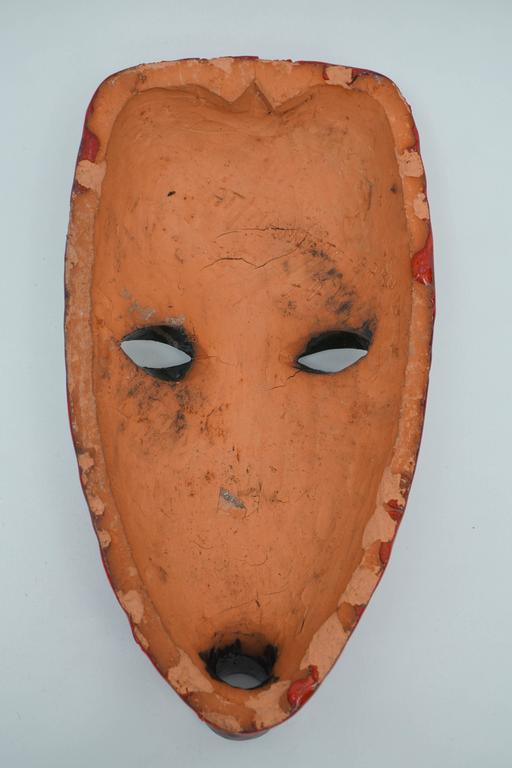 Ghanaian At Manteto Ceramic Wall Mask For Sale