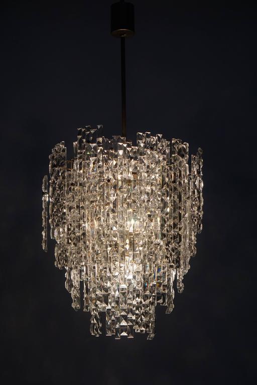Monumental Kinkeldey Crystal Chandelier For Sale 2
