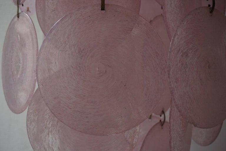 Venini Murano Chandelier with 54 Discs 10
