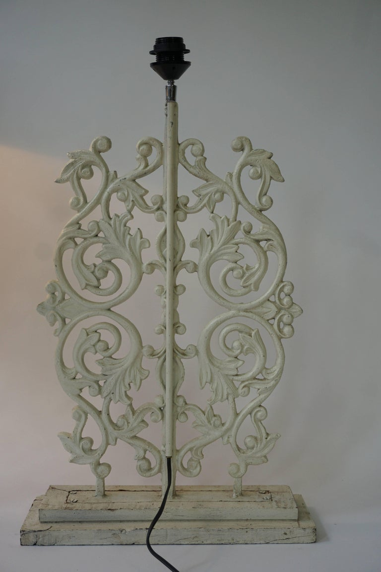 Two Cast Iron Painted Table Lamps For Sale 4