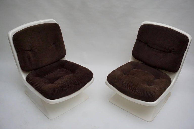 French Albert Jacob Lounge Chairs for Grosfillex, 1970 For Sale