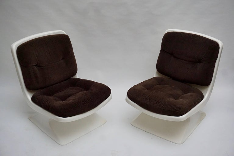 Fabric Albert Jacob Lounge Chairs for Grosfillex, 1970 For Sale