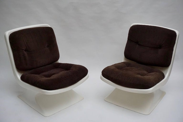 Mid-Century Modern Albert Jacob Lounge Chairs for Grosfillex, 1970 For Sale