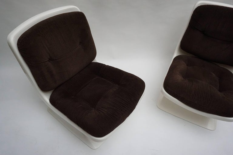 Albert Jacob Lounge Chairs for Grosfillex, 1970 For Sale 1