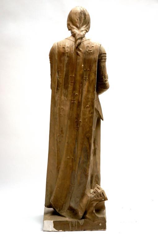 Lifesize Plaster Sculpture Representing Jeanne d'Arc For Sale 4