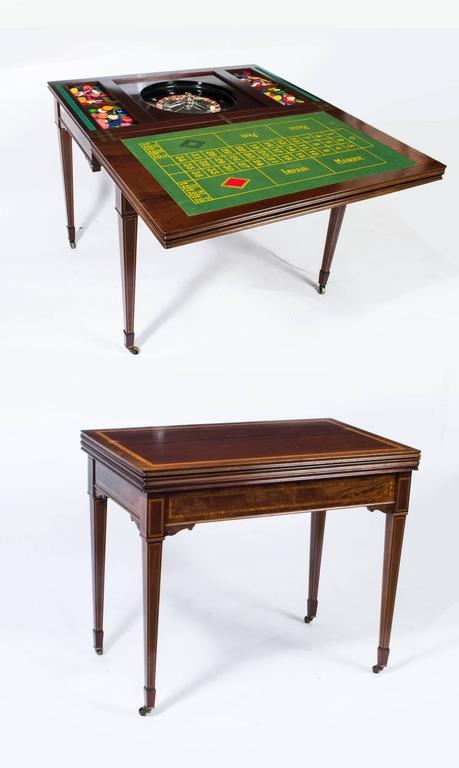 Bon This Is A Fabulous High Quality Antique Edwardian Mahogany, Satinwood  Crossbanded And Line Inlaid Triple