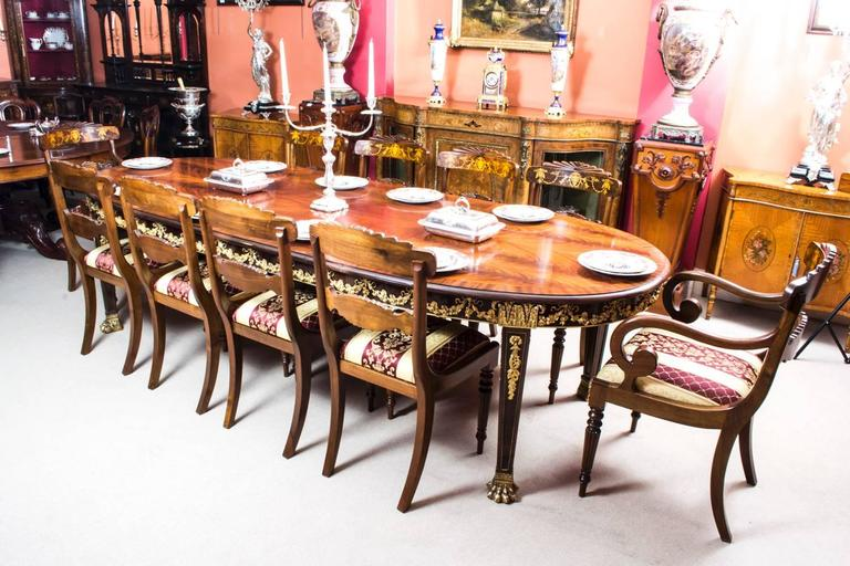 This Is A Very Impressive And Rare Antique Extending Dining Table In The  Neoclassical Style,