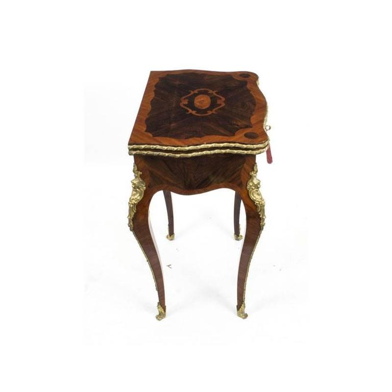 This Is A Magnificent Antique French Rosewood And Kingwood Ormolu Mounted Card  Table, Circa