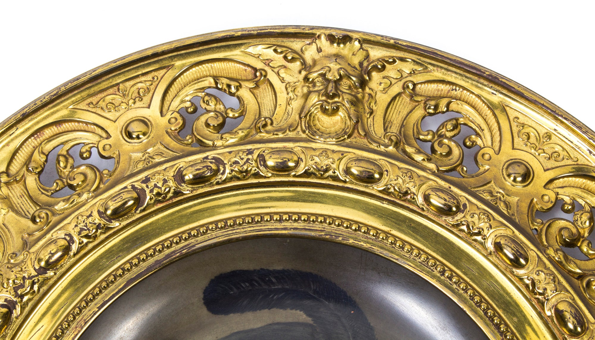 Antique Set of Four Dresden Porcelain Ormolu-Mounted Wall Plaques ...