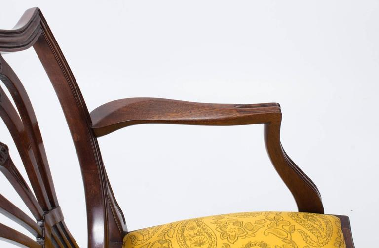 Queen Anne Dining Room Chairs Shield Back