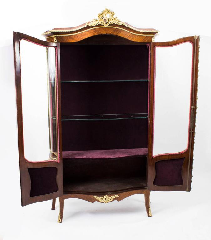 19th Century French Kingwood Vernis Martin Display Cabinet For Sale 2