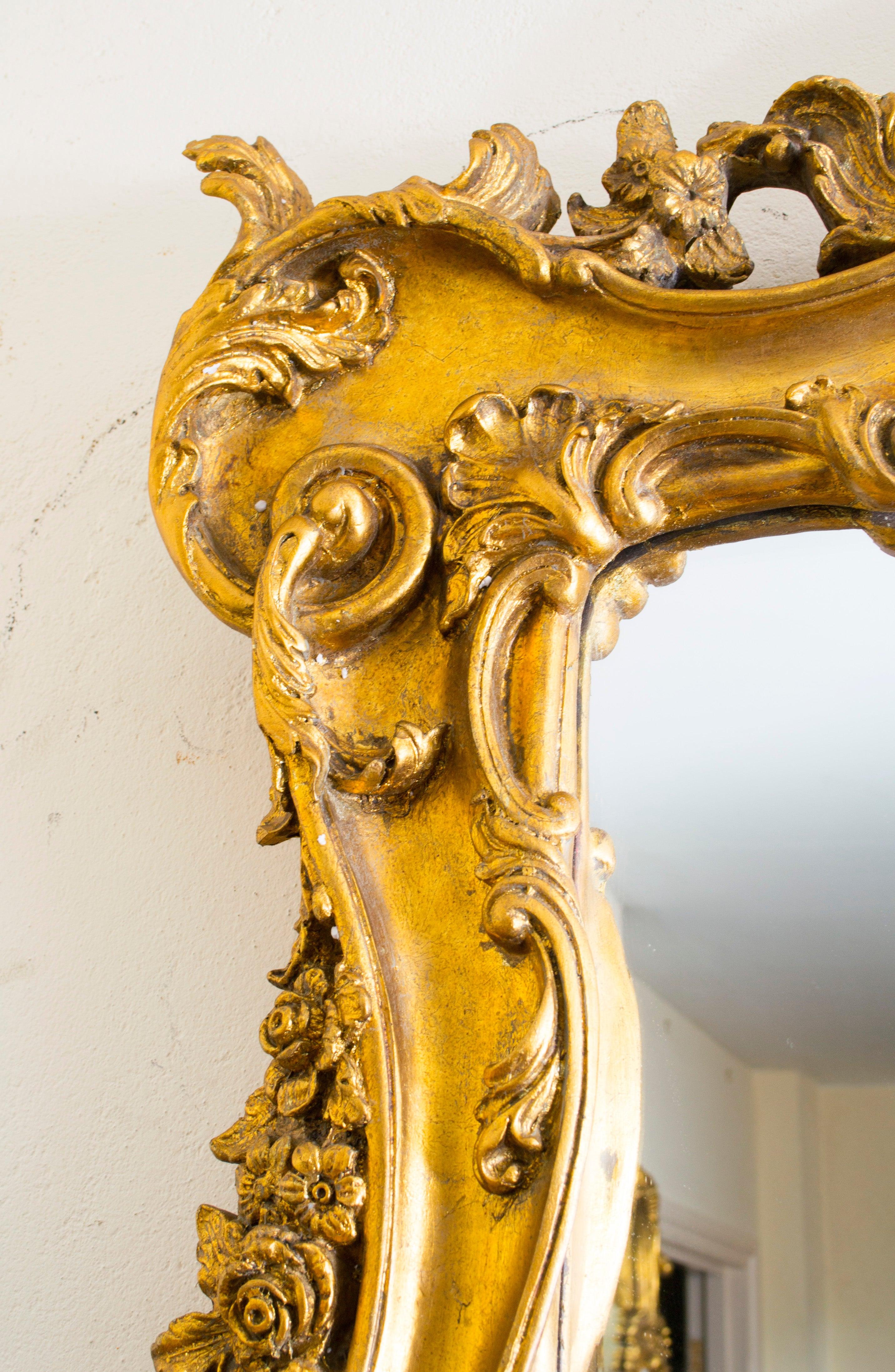 Stunning Large Rectangular Decorative Gilded Mirror 181 x 102 cm For ...
