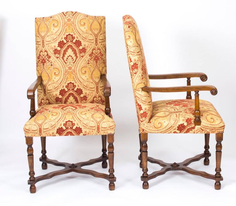 high back upholstered dining room chairs | Vintage Set of Ten Upholstered High Back Dining Chairs ...