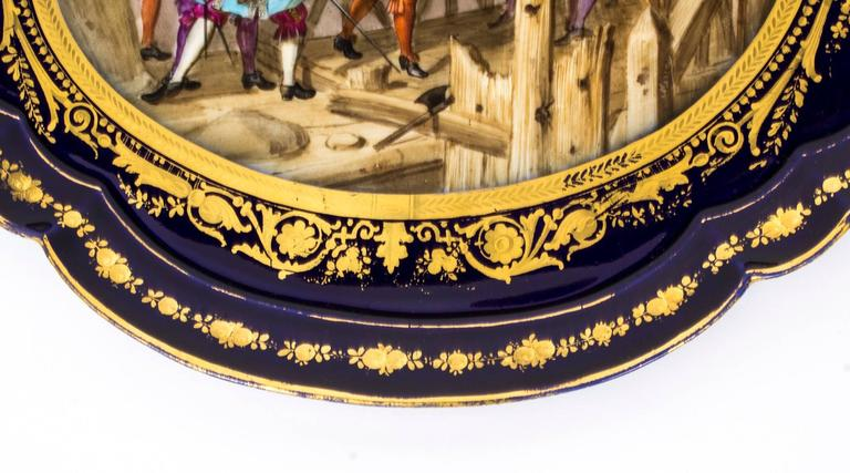 19th Century French Sevres Porcelain Tray Signed Moreaux In Excellent Condition For Sale In London, GB