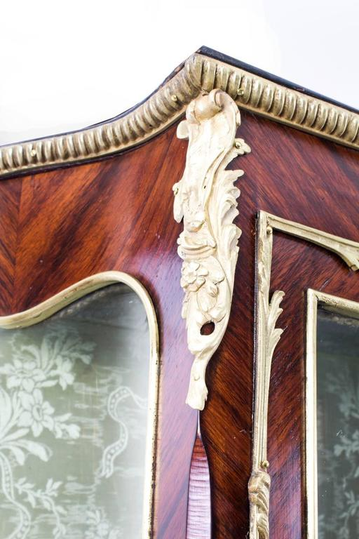 Louis XV 19th Century French Large Vernis Martin Display Cabinet