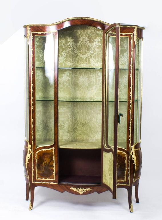 19th Century French Large Vernis Martin Display Cabinet 4