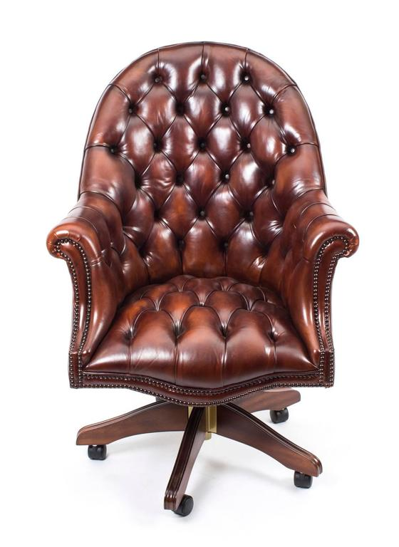 This Is An Absolutely Stunning New Leather U0027Directoru0027s Chairu0027 In A  Beautiful Antique Browny