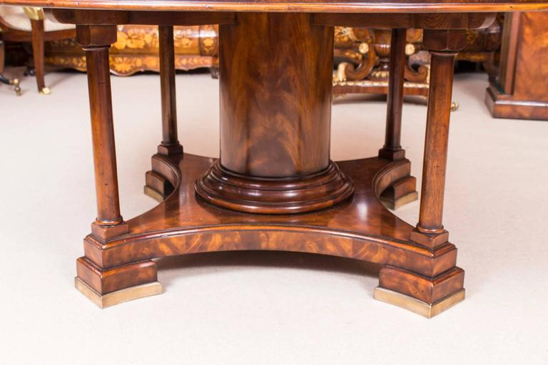 Theodore Alexander Flame Mahogany Jupe Dining Table And