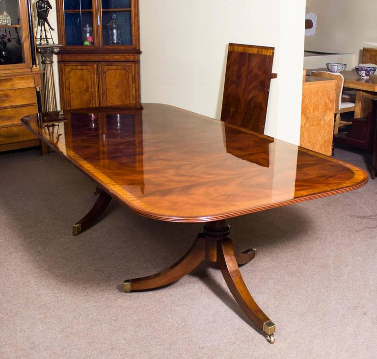 regency style dining table and set of ten chairs for sale at 1stdibs