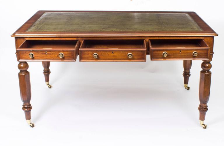 Antique William Iv Mahogany Partner S Library Table Desk