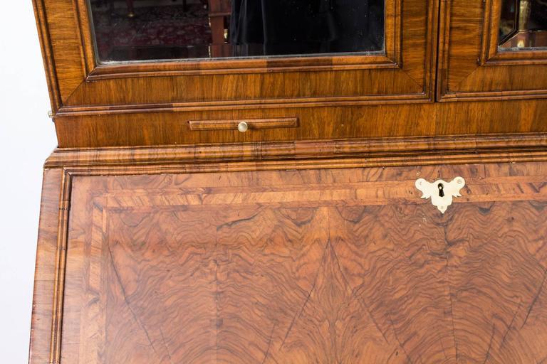 18th Century Queen Anne Double Dome Burr Walnut Bureau Bookcase For Sale 1