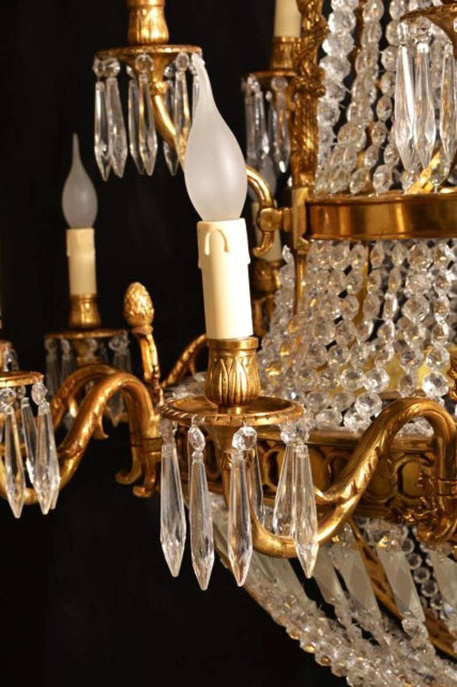 French empire style two tier eighteen light ballroom chandelier at french empire style two tier eighteen light ballroom chandelier at 1stdibs arubaitofo Gallery