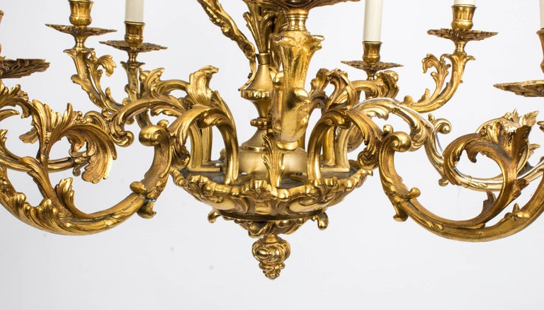 19th century french louis xiv style nine branch ormolu chandelier for sale at 1stdibs. Black Bedroom Furniture Sets. Home Design Ideas