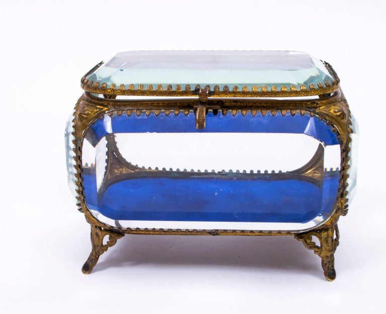 Th century french ormolu and glass table wedding casket