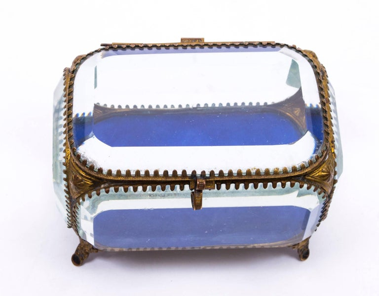 19th Century French Ormolu and Glass Table Wedding Casket For Sale 1