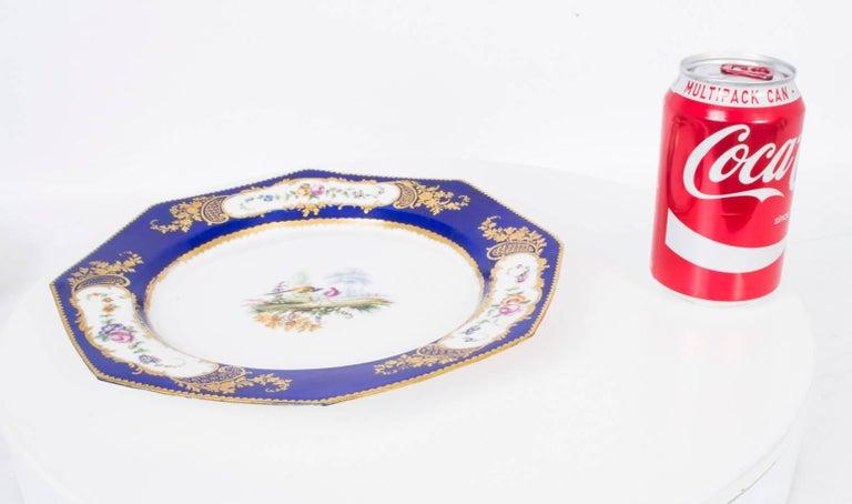 19th Century Sevres Porcelain Cobalt Blue Porcelain Plate For Sale 2