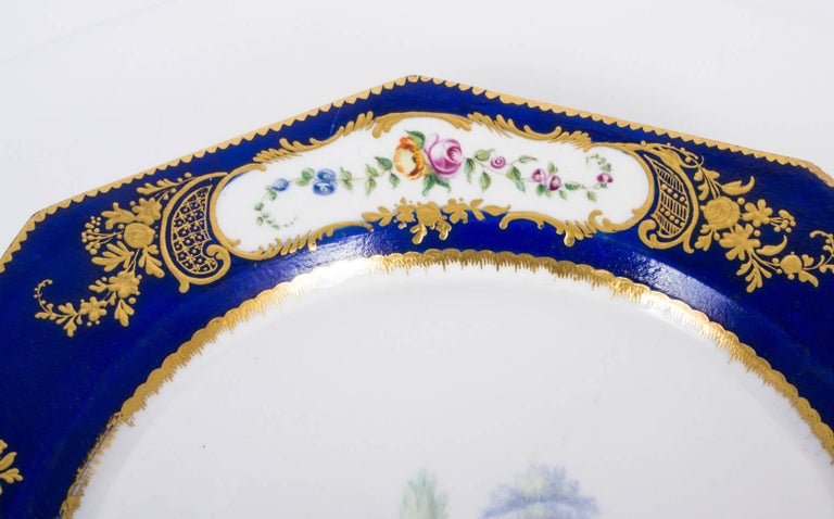 19th Century Sevres Porcelain Cobalt Blue Porcelain Plate In Excellent Condition For Sale In London, GB